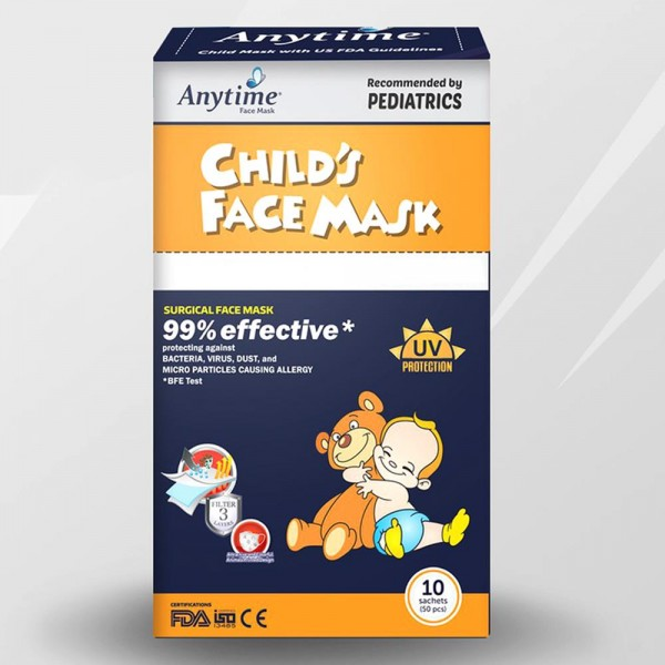 Anytime Child Surgical Face Mask Earloop /50