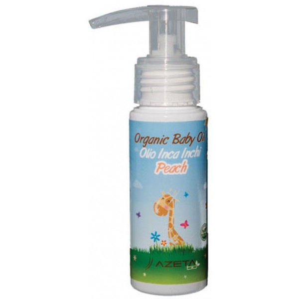 Azeta Bio Organic Baby Oil Massage Peach 50ml