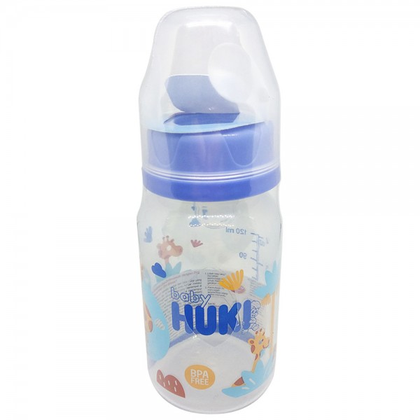 Baby Huki CI0328 PPSP Round 120ml Blue New
