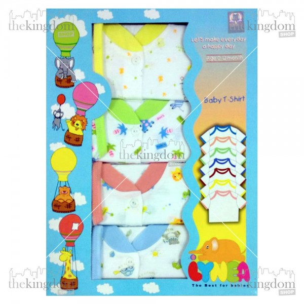 Baby Safe BTS0603G Baby T-Shirt Print 4 set
