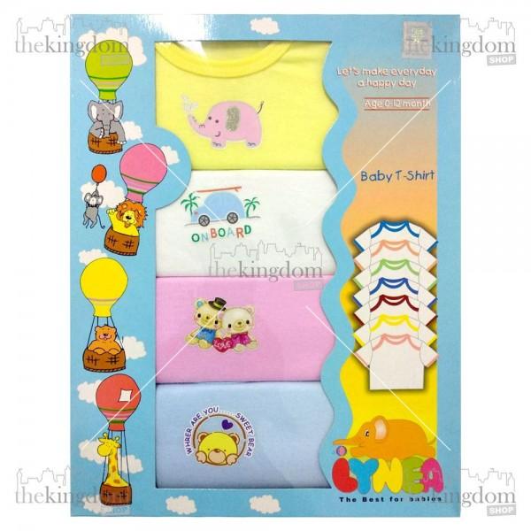 Baby Safe BTS0806E Baby T-Shirt Print 4 set