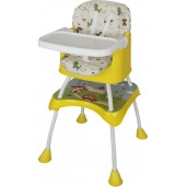 Baby Safe HC04Y High Chair and Booster Seat Yellow