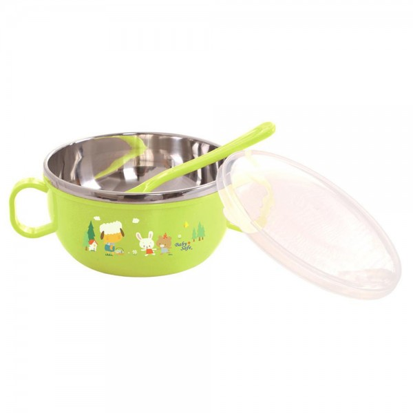 Baby Safe SS001 Stainless Bowl With Cover 240ml