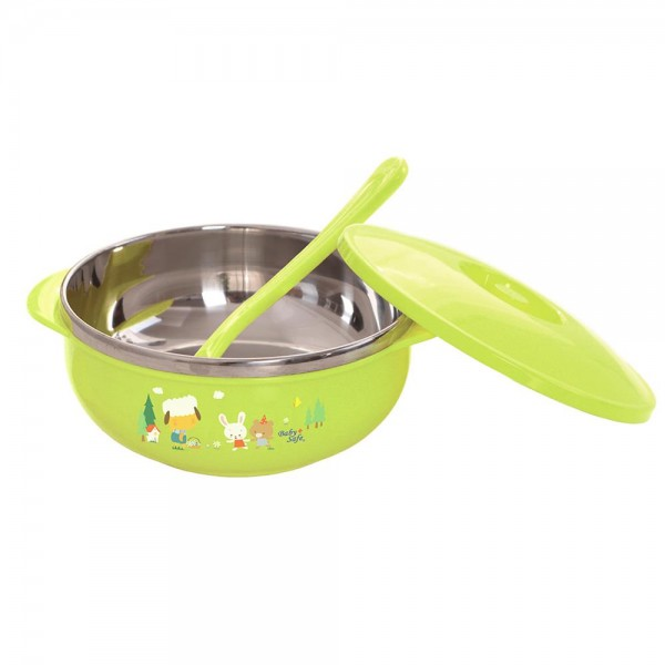 Baby Safe SS002 Stainless Bowl With Cover 450ml