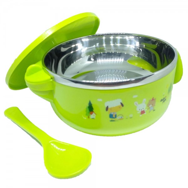 Baby Safe SS003 Stainless Steel Insulated Bowl 450ml