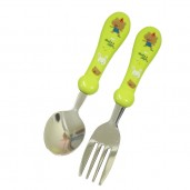 Baby Safe SS005 Stainless Spoon and Fork