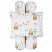 Cottonseeds Pillow Bolster Owl and Friends