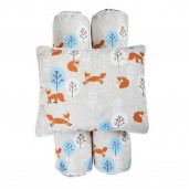 Cottonseeds Pillow Bolster Winter Foxy