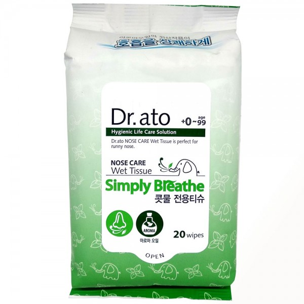 Dr. Ato Simply Breathe Nose Care Wet Tissue /20