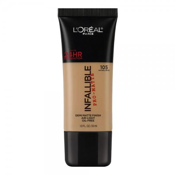 L'Oreal Make Up Foundation Matte Infallible Pro Matte Natural Beige
