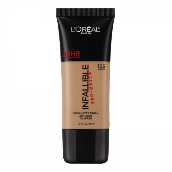 L'Oreal Make Up Foundation Matte Infallible Pro Matte Sun Beige