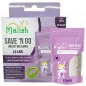 Malish Save 'N Go Breast Milk Bags Learn