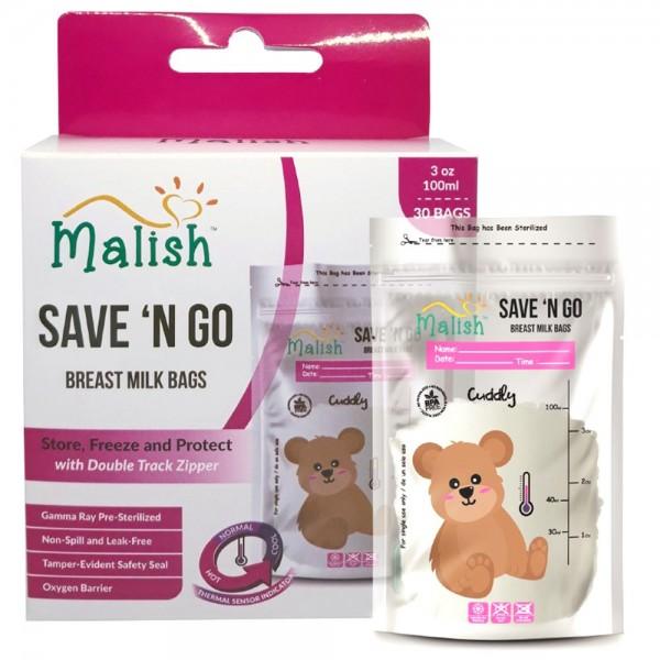 Malish Save 'N Go Breast Milk Bags Cuddly