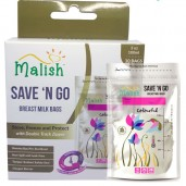 Malish Save 'N Go Breast Milk Bags Colourful