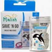 Malish Save 'N Go Breast Milk Bags Joyful