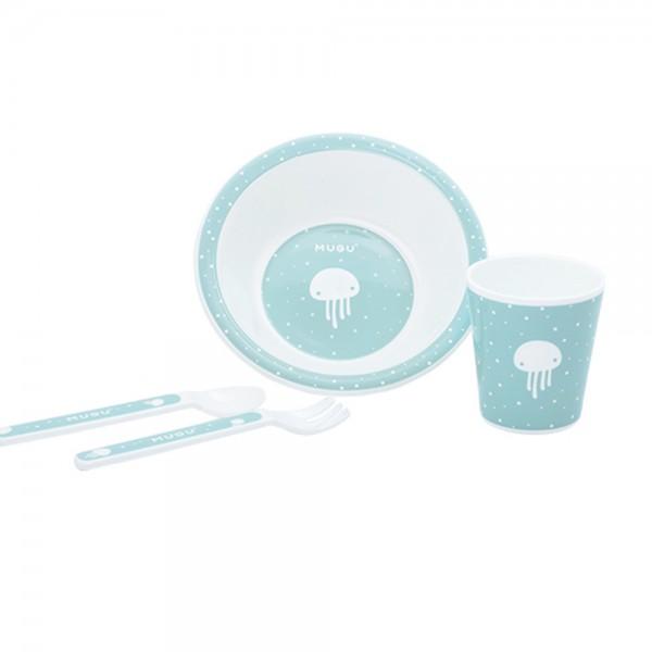 Mugu MA90301 Kids Dinnerware Set /4