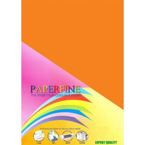Paperfine Kertas HVS Warna Plano Saffron /500