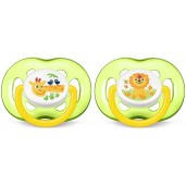 Philips Avent SCF186/23 Freeflow Soothers Green 2 Pack