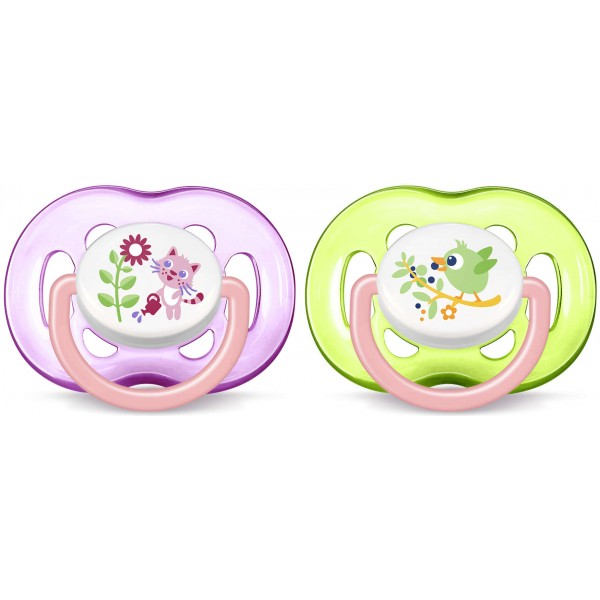 Philips Avent SCF186/25 Freeflow Soothers 2 Pack