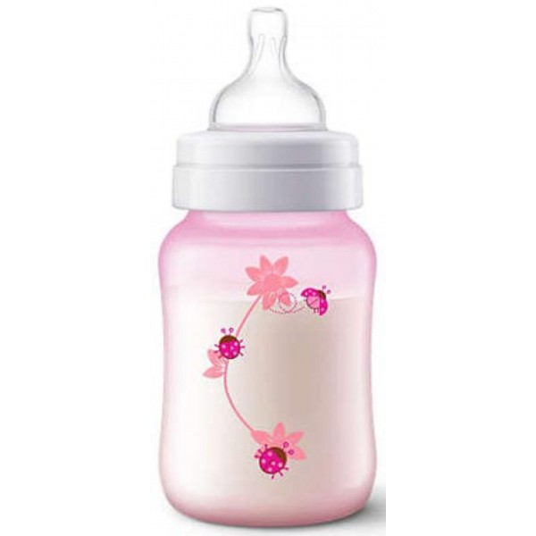Philips Avent SCF573/11 Classic Feeding Bottle 260ml Pink