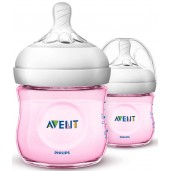 Philips Avent SCF691/23 Natural Feeding Bottle 125ml Pink Twin