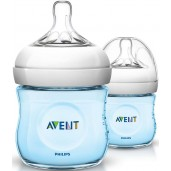 Philips Avent SCF692/23 Natural Feeding Bottle 125ml Blue Twin