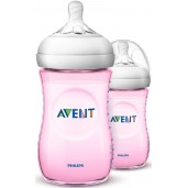 Philips Avent SCF694/23 Natural Feeding Bottle 260ml Pink Twin