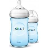 Philips Avent SCF695/23 Natural Feeding Bottle 260ml Blue Twin