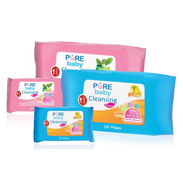 Pure BB Baby Cleansing Wipes /60