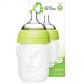 Putti Atti Silicone Baby Bottle Green 160ml