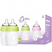 Putti Atti Silicone Baby Bottle Twin Green 160ml