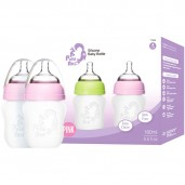 Putti Atti Silicone Baby Bottle Twin Pink 160ml