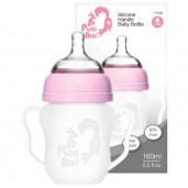 Putti Atti Silicone Baby Handle Bottle Pink 160ml