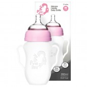 Putti Atti Silicone Baby Handle Bottle Pink 260ml