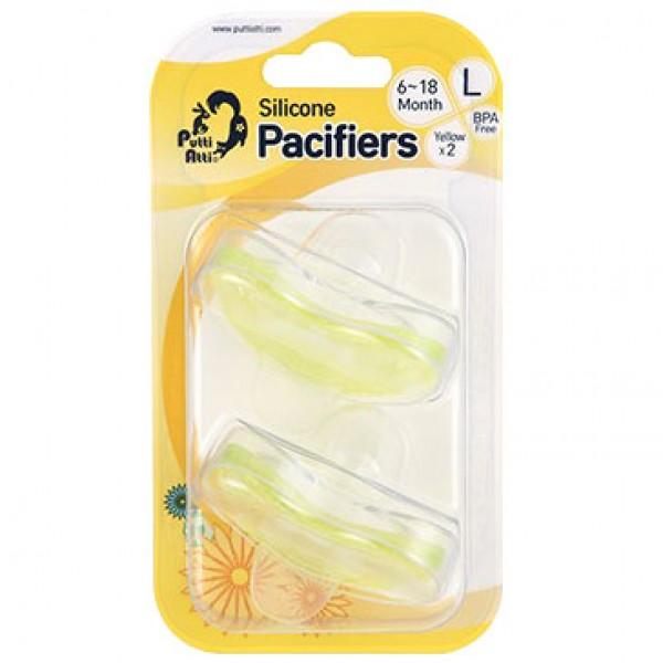 Putti Atti Pacifier Large Yellow