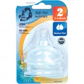 Putti Atti Soft Feel Nipple Step 2 Medium Flow (3-6M)