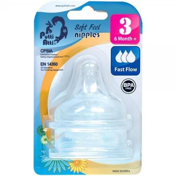 Putti Atti Soft Feel Nipple Step 3 Fast Flow (6M+)
