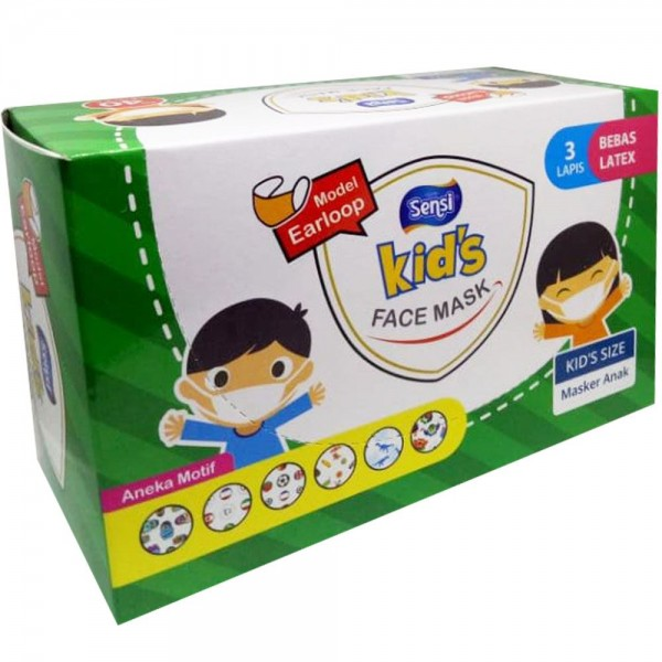 Sensi Kids Mask 3ply Earloop Motif /40