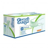 Sensi Mask 3ply Tie On Surgical Face Mask Green /50