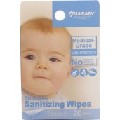 US BABY Disposable Sanitizing Wipes /20