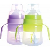 US BABY Silismart Wide Neck Bottle With Handle 120ml