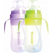 US BABY Silismart Wide Neck Bottle With Handle 240ml