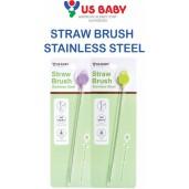 US BABY Stainless Steel Straw Brush