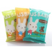 US BABY Hand, Mouth, Face Wipes Character
