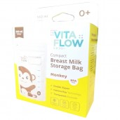 Vita Flow Kantong ASI Double Zipper Monkey 100ml