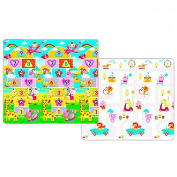 Yofi Mat TK-156 XL 200x180x1,5cm Numeric Fun Road Map